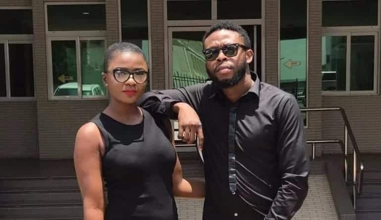 Kalybos and Ahuofe Patri strike a pose in all-black