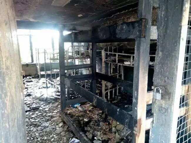 Property lost as fire destroys boys' dormitory at Asuom Senior High School