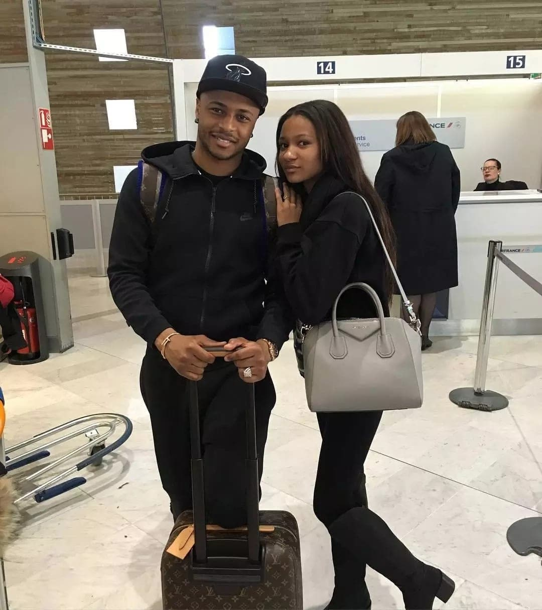 Imani Ayew with Andre Ayew