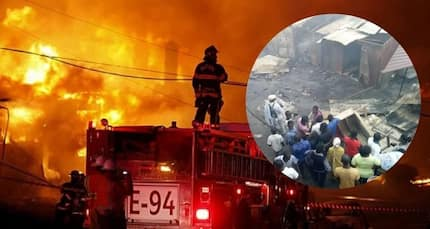 PHOTOS: Kasoa Old Market Square burnt to the ground by raging fire