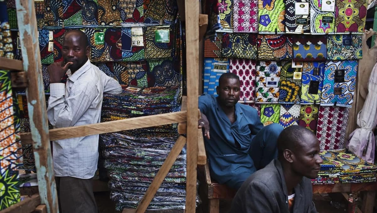 Wax prints, like Vlisco, are still making believe that they are African