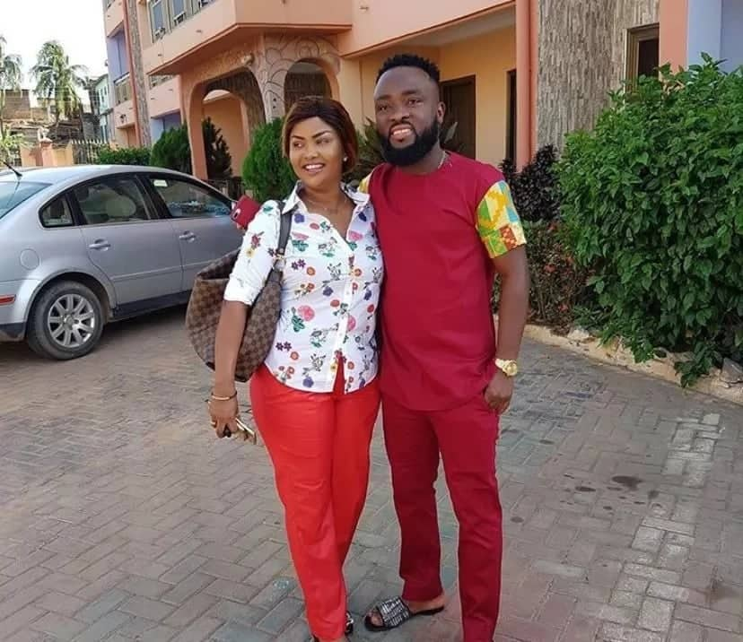 Nana Ama McBrown steps out with her husband to make donation