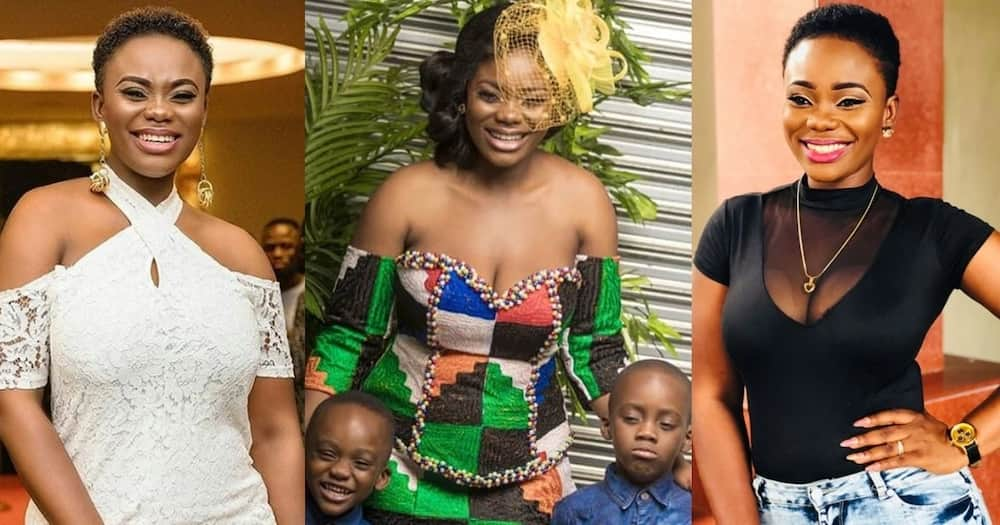 Akua GMB: First son of Beauty Queen and Dr Kwaku Oteng's Grows tall and Handsome in Video