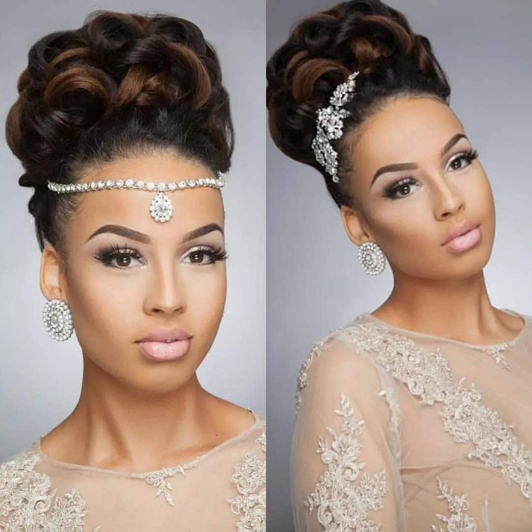 Elegant Hairstyles For Nigerian Brides: Latest Wedding Hairstyles In Ghana YEN.COM.GH