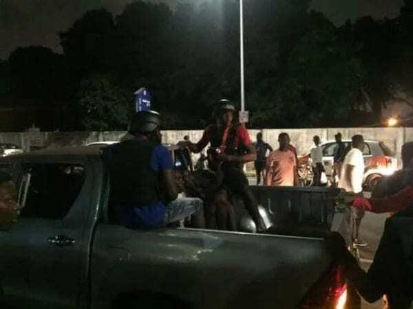 Ghana Police resort catapult to apprehend thief who hid up a tree