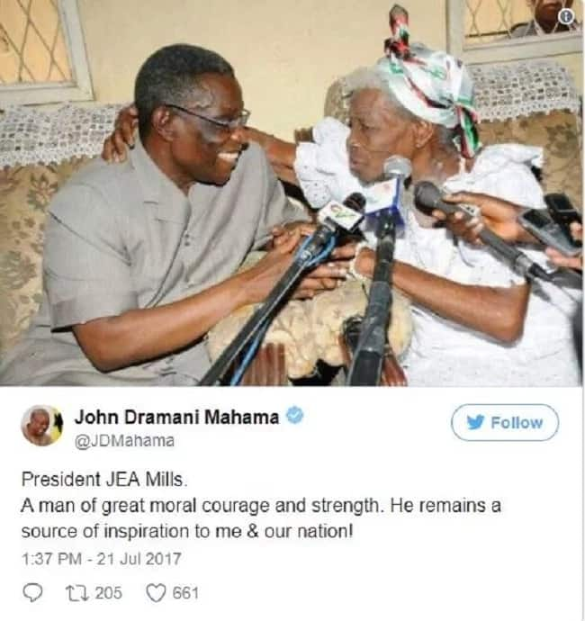 Prof. Mills was a man of great moral courage – President Mahama