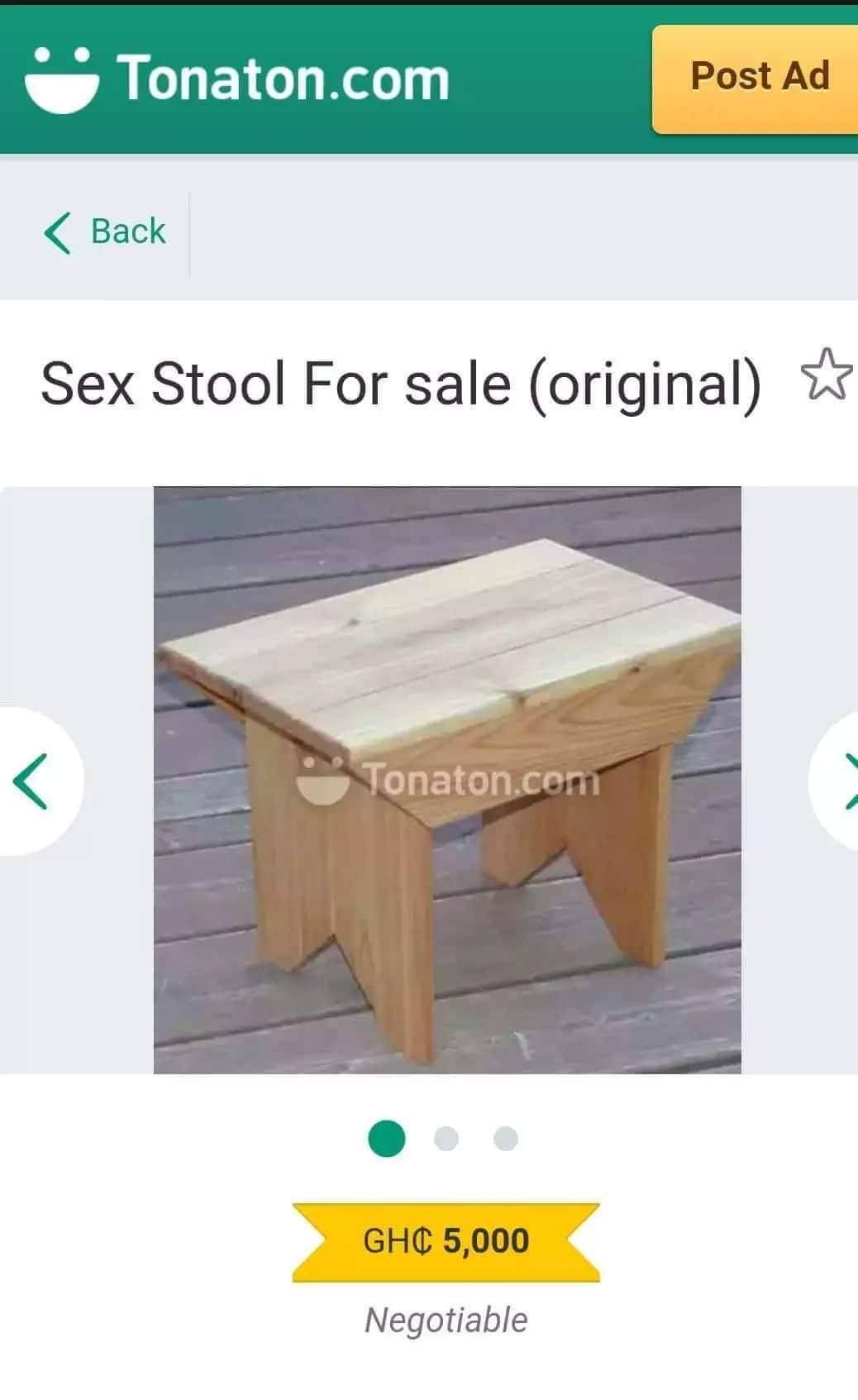 Stool for sale poster