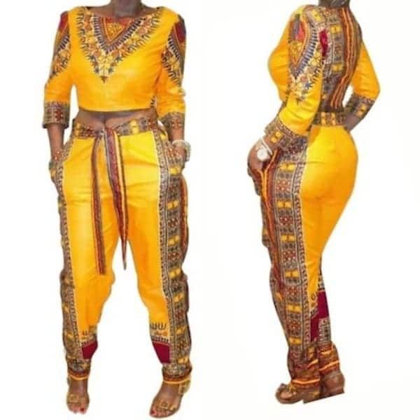 African print jumpsuit styles