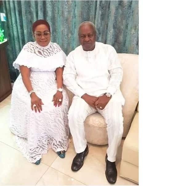 Former president Mahama and Lordina dazzle in their Sunday whites