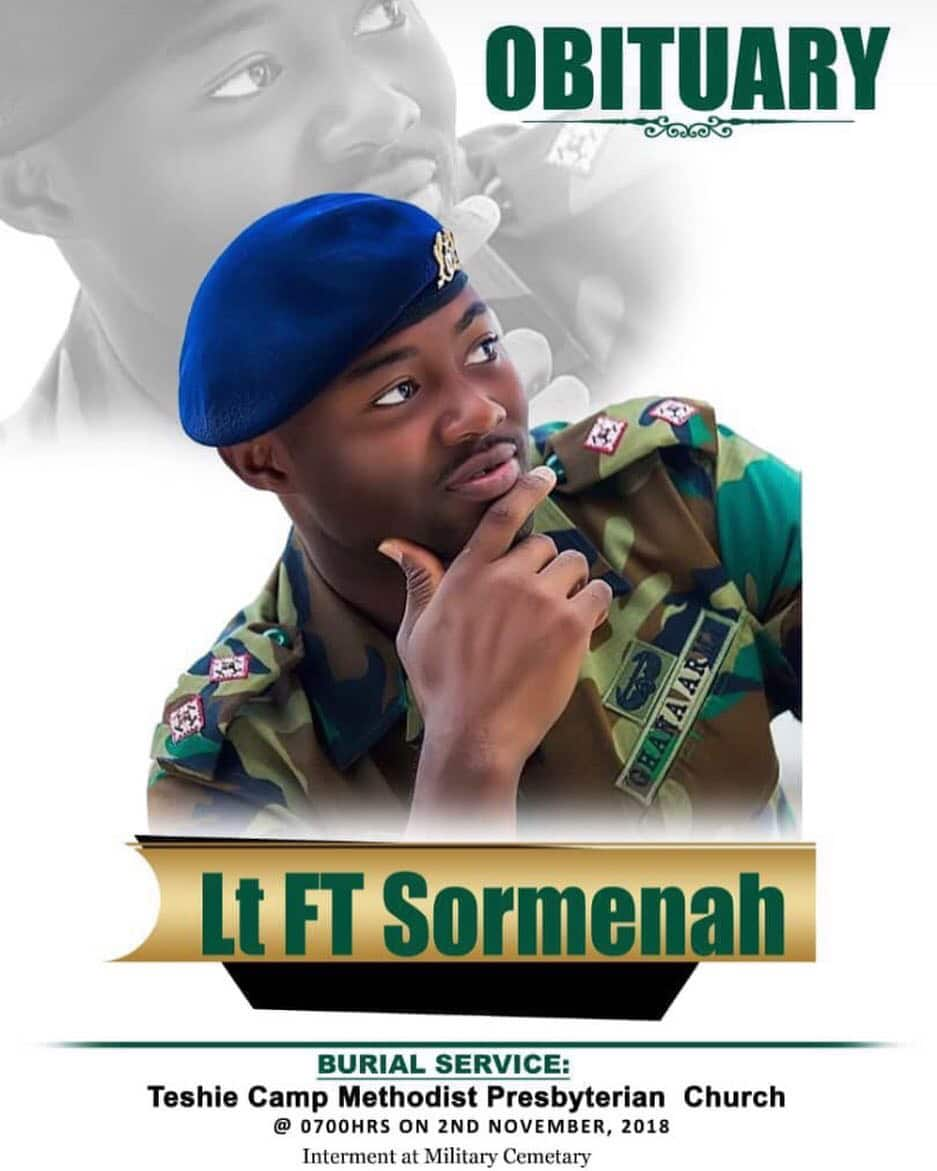 Photo: Soldier killed one month to wedding Lt Felix Tei Sormenah to be buried Nov 2