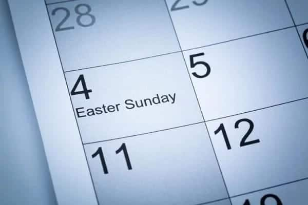 Easter 2018 holiday dates in Ghana
