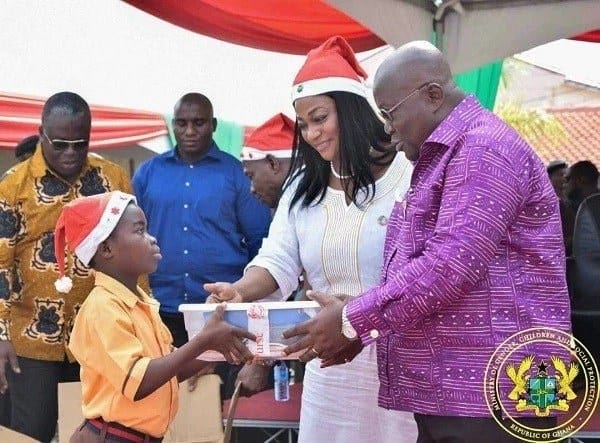 President Akufo-Addo joins over 2000 children to celebrate Christmas in a grand style