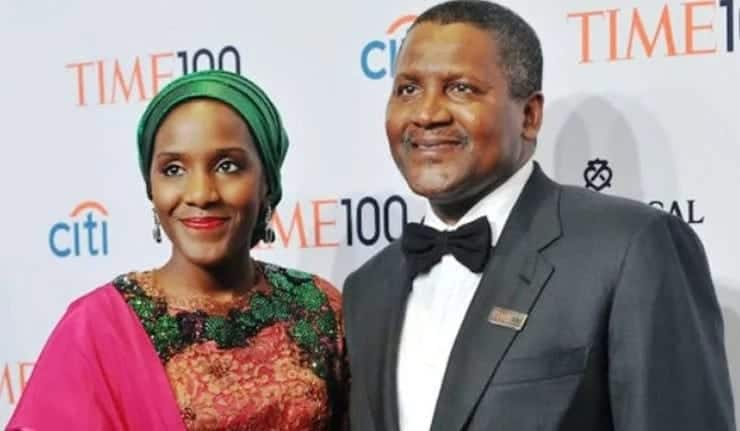 Dangote with her daughter Fatima