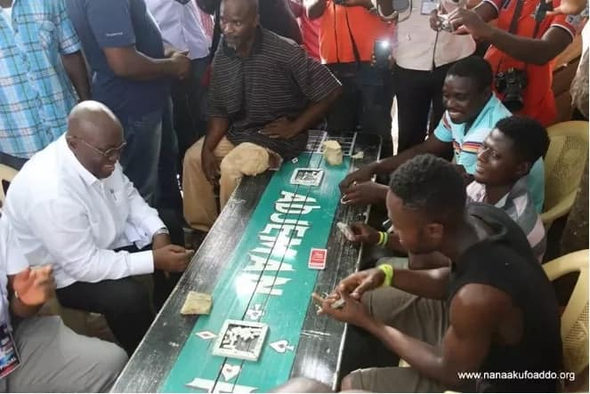 Akufo-Addo plays cards in Accra