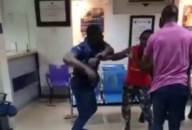 Policeman assaults nursing mother