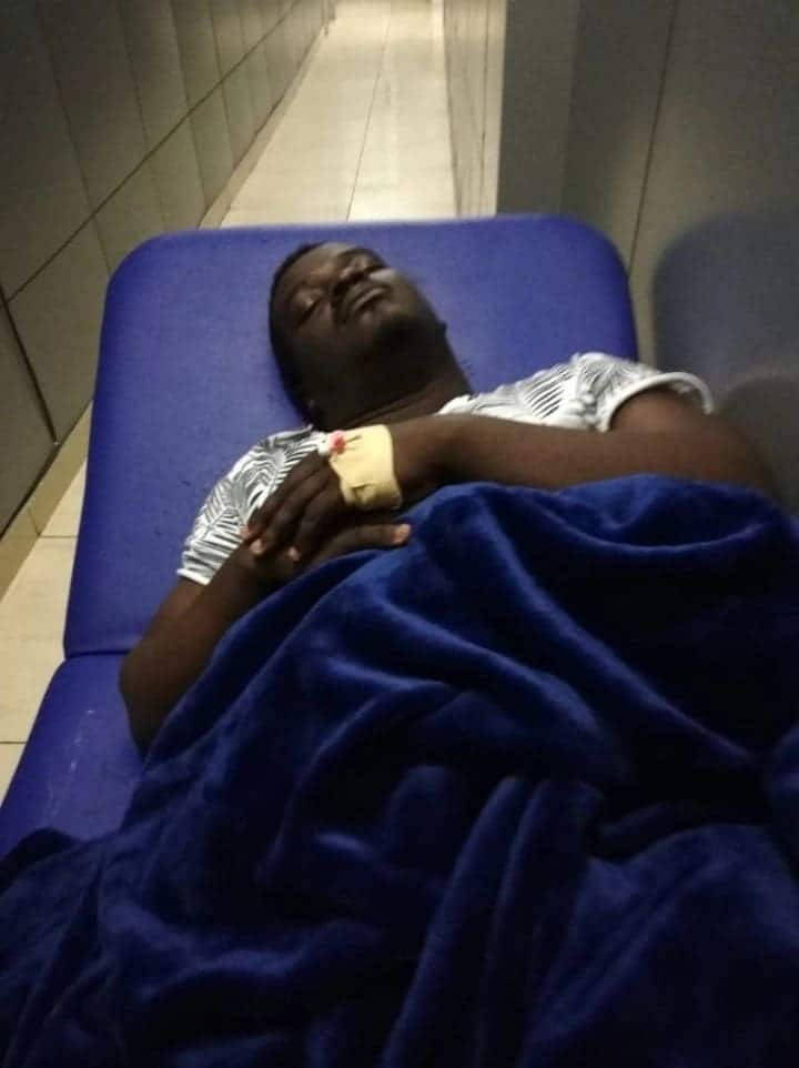 Photos of Kumi Guitar in 'critical' condition at the hospital leaks on social media