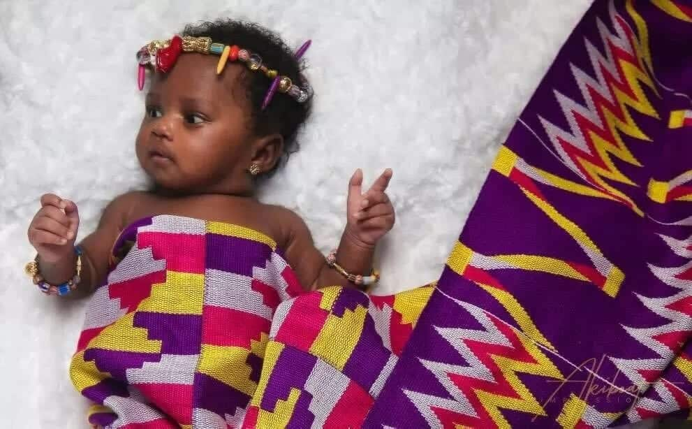 A photo of Gifty Anti's baby