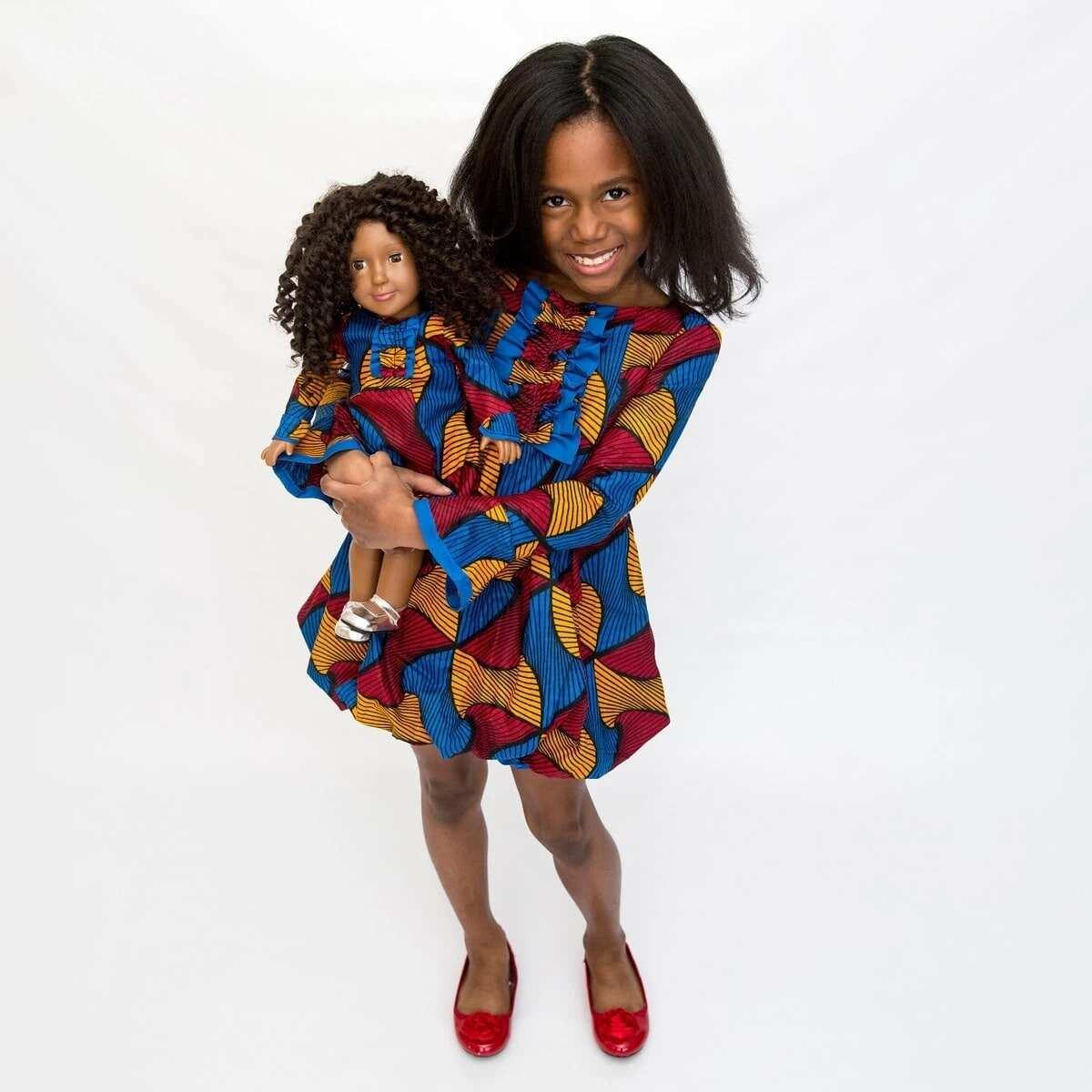 African print flower girl dresses