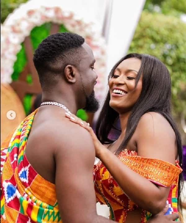 It was indeed a happy moment for the couple. Photo credit: Ameyaw Debrah