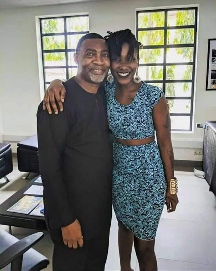 This photo of Ebony and Evangelist Lawrence Tetteh reveals the 'deep' relationship between them