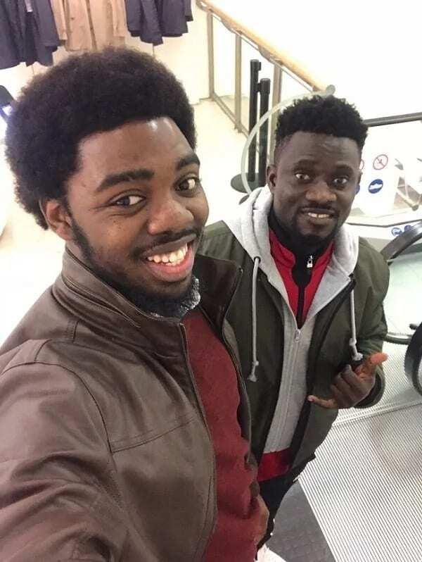 Derrick Evans finally meets his biggest Ghanaian fan Bismark the joke