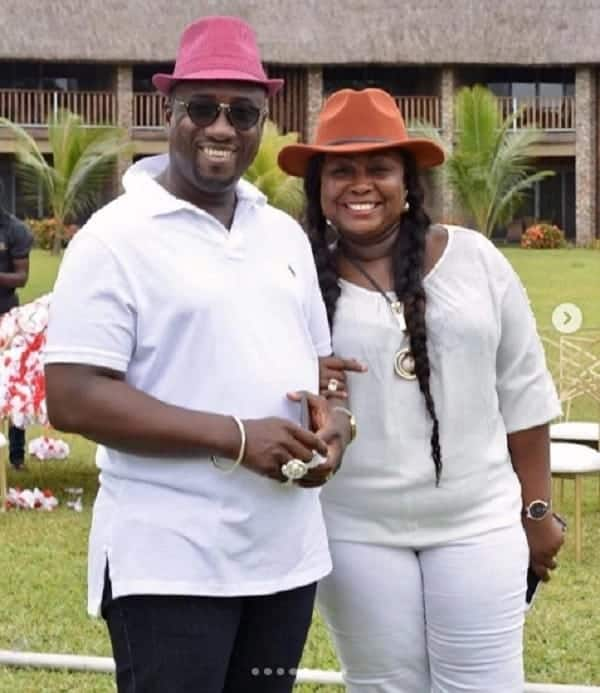 Gifty Anti having a good time with the husband. Photo credit: Instagram