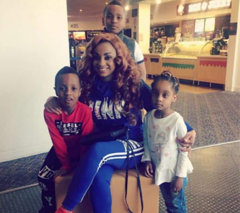 Asamoah Gyan's wife and kids. Photo credit: Instagram