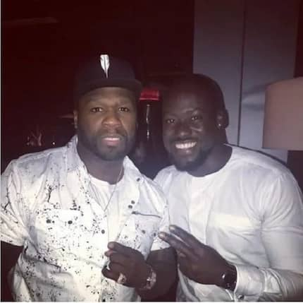 Chris Attoh spotted 'chilling' with American superstar 50 Cent