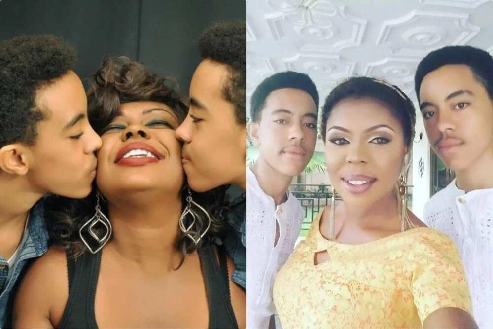 Afia Schwar: Photos of Actress' Twin sons Growing up in Kwadaso, Ashanti Region, drops