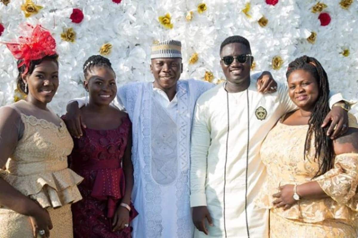 Stonebwoy's younger sister get married to a military man in plush ceremony
