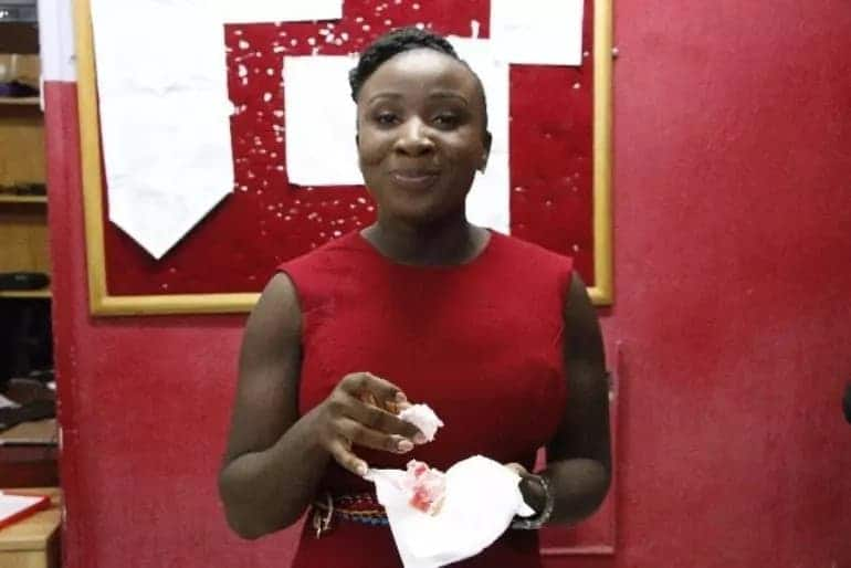 Naa Ashorkor's colleagues treat her to a nice party on her birthday