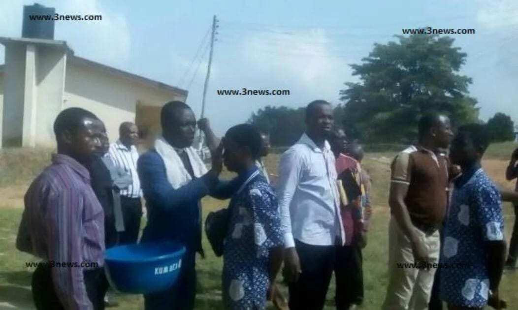 Kumasi Academy students anointed against 'spiritual' deaths
