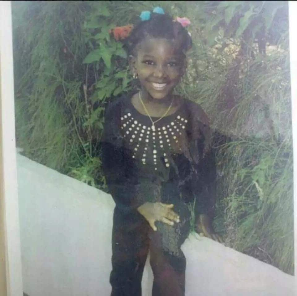 This childhood photo of Ebony at 5 years proves she had been cute from the 'beginning'