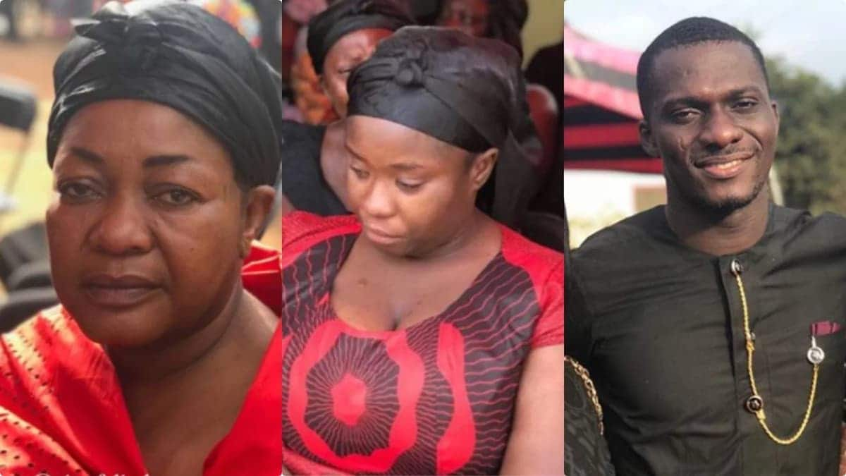 Mourners at Maame Serwaa's mother's burial