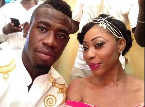 Amanda and Afriyie when they got married