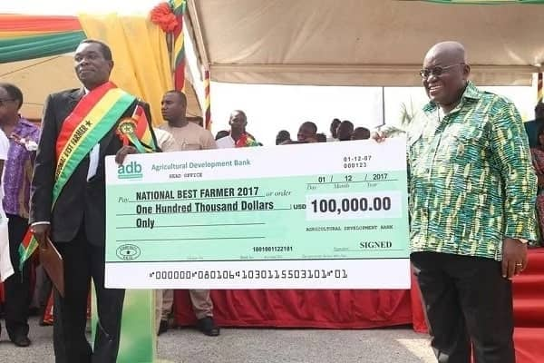 Image result for farmer returns prize nationa 2017 ghana