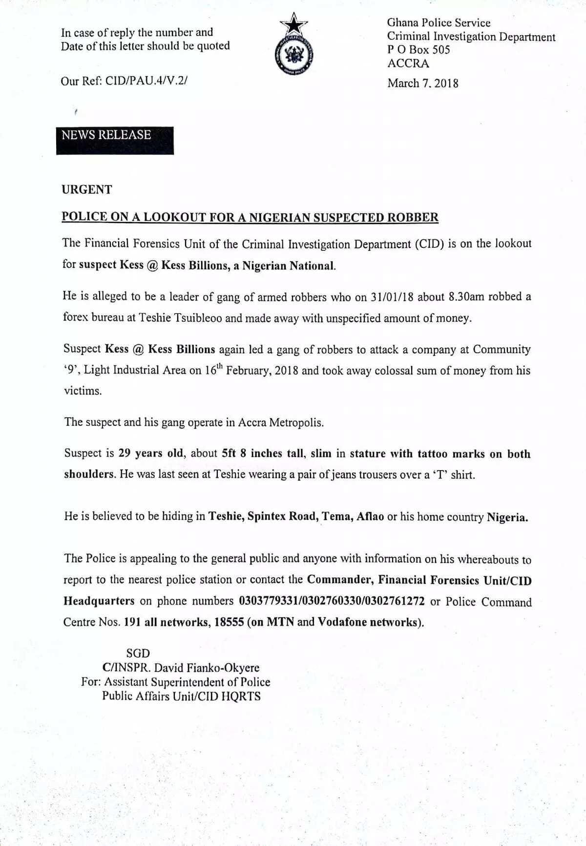 More photos of notorious Nigerian forex bureau robber hits social media