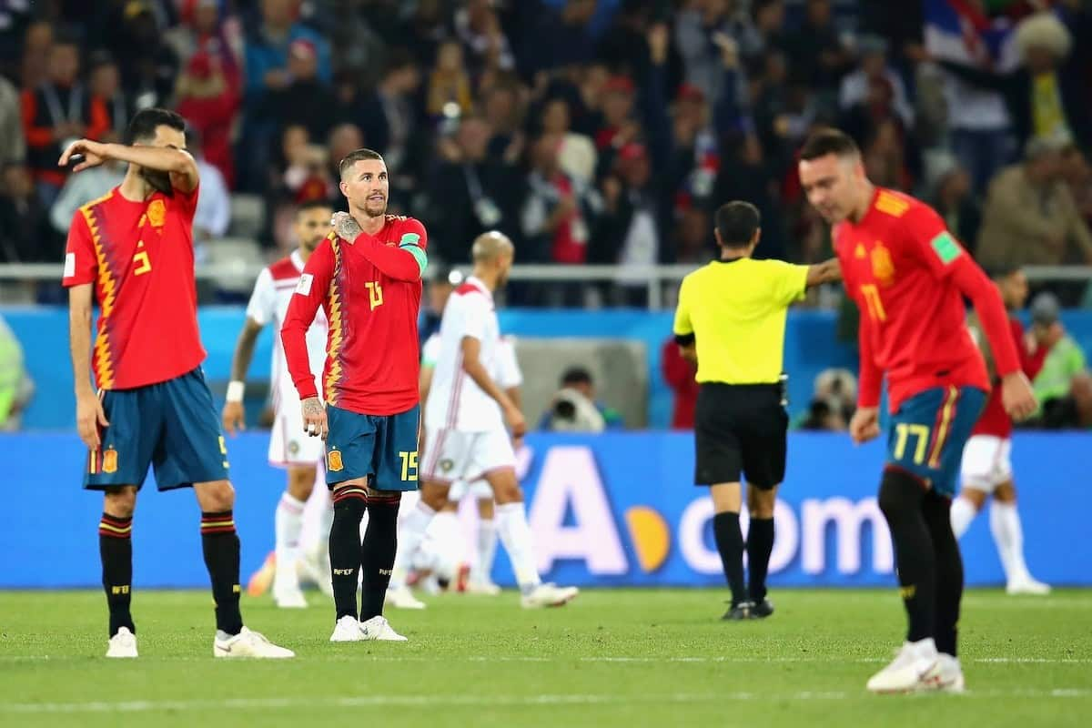 Spain score late to draw 2-2 against Morocco