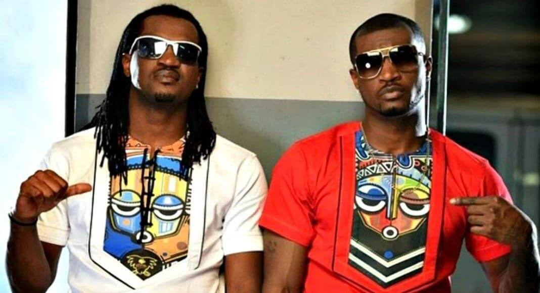 Video: P-Square brothers in angry fight; almost exchange blows at lawyer's office after bitter split