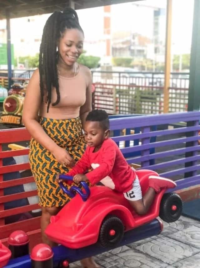 Shatta Michy with Shatta Majesty championing family goal