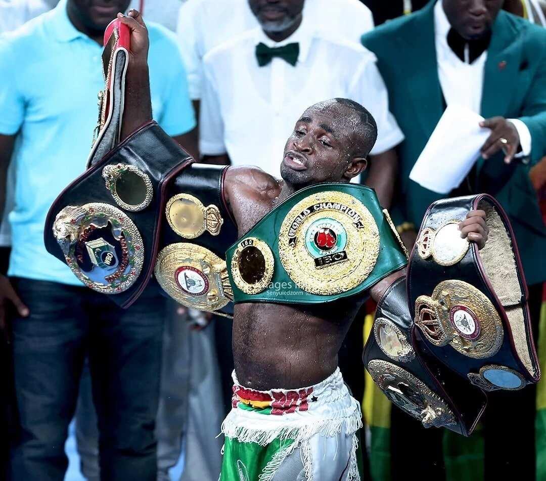 Joshua Clottey has advised Emmanuel Tagoe against fightingIsaac Dogboe