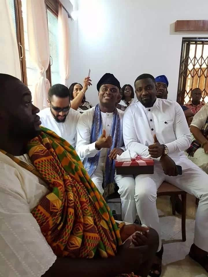 Friends gathered at Fred Nuamah's wedding