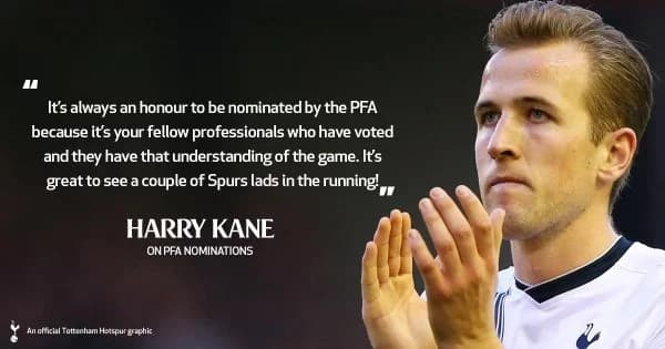 Vardy, Kane in PFA team of the year