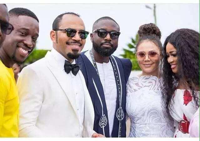 Fiifi Coleman, Ramsey Nouah, Elikem Kumordzie, Nadia Buari at John Dumelo's wedding