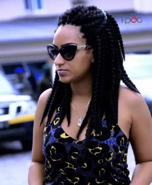 Juliet Ibrahim wearing sunglasses