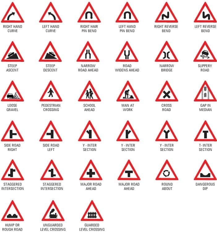 DVLA road signs and meanings in Ghana
