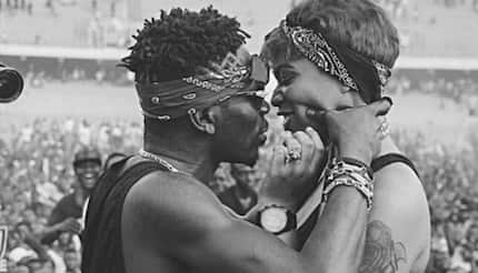Shatta Wale and Michy finally reunite as they are spotted all over each other in their mansion in new video
