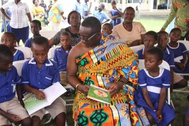 Current literacy rate in Ghana by regions