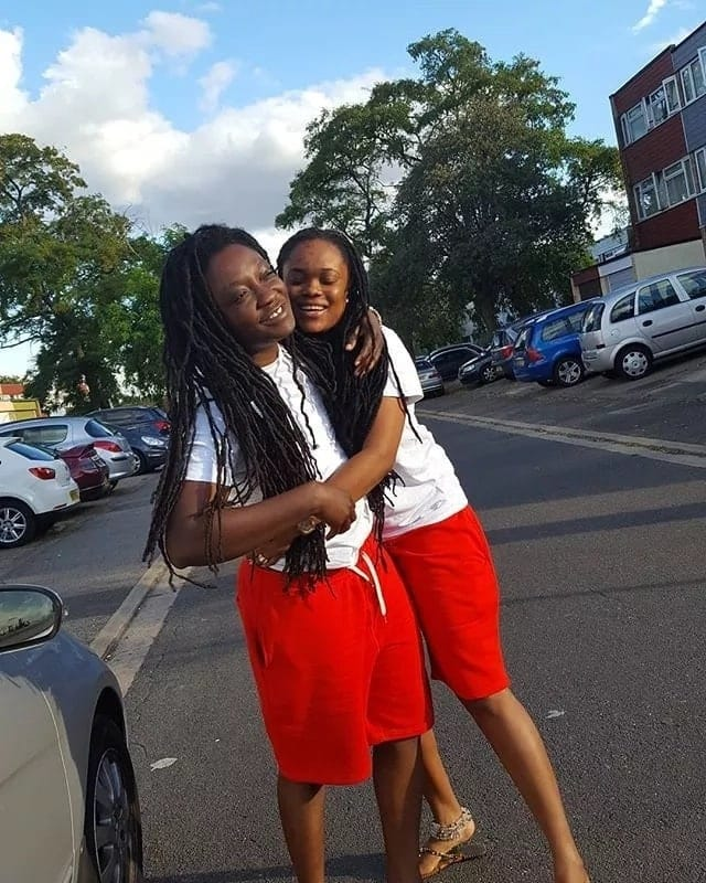 Photos and details of Ghanaian lesbian couple in trending bedroom video pop up