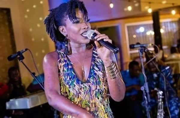 Ebony singing at an event